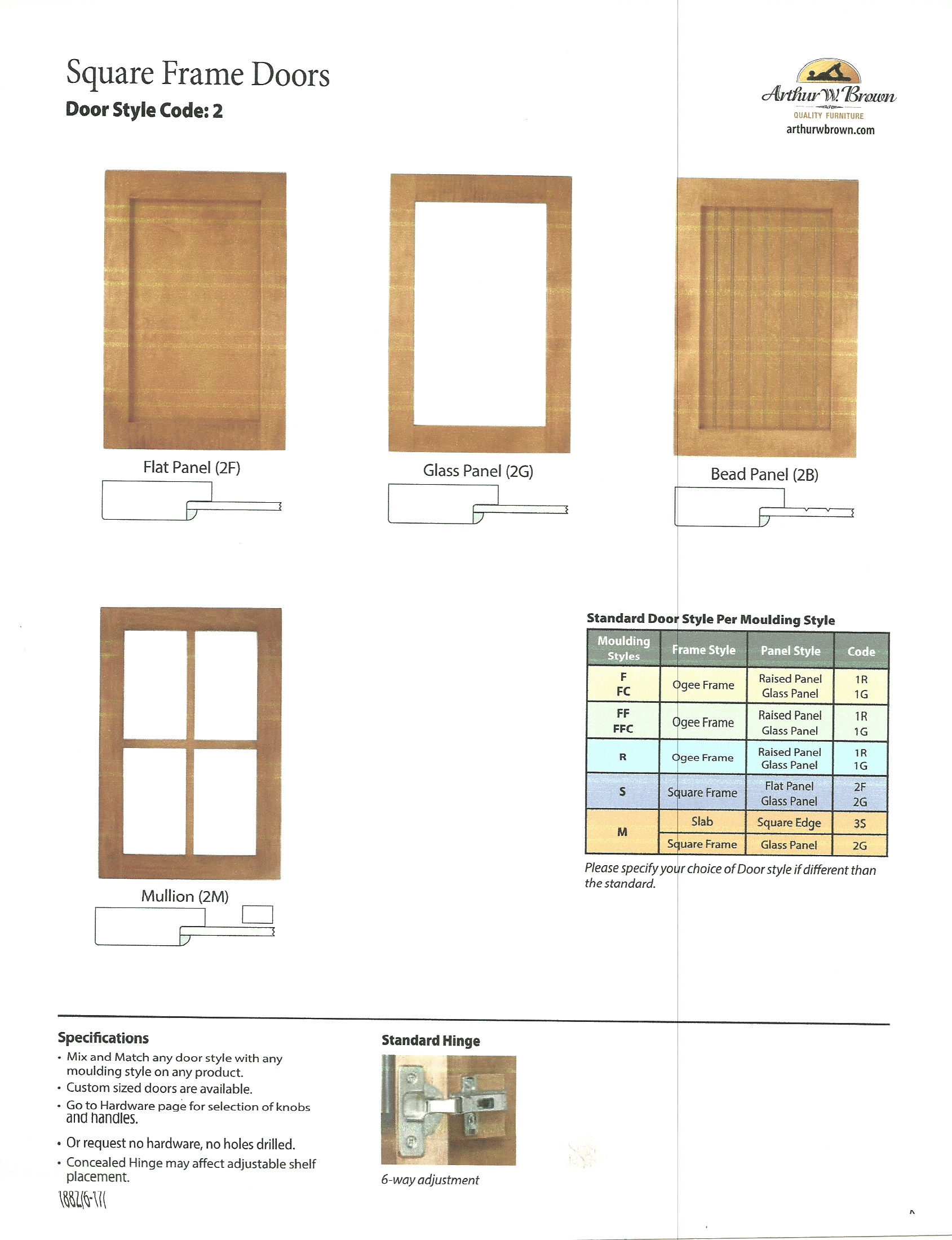 Square Frame Doors Options