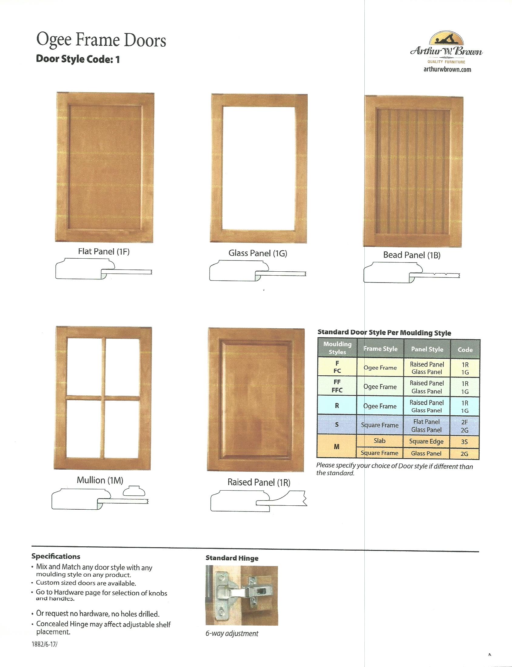 Ogee Frame Door Options