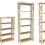 Whitewood X-Sided Bookcases